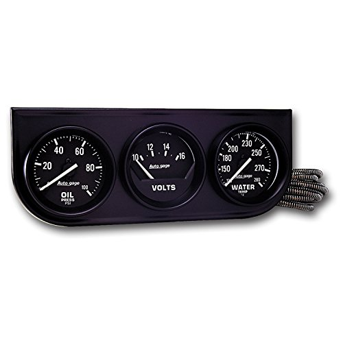 Auto Meter 2397 3 Gauge Console Oil/Water/Volt