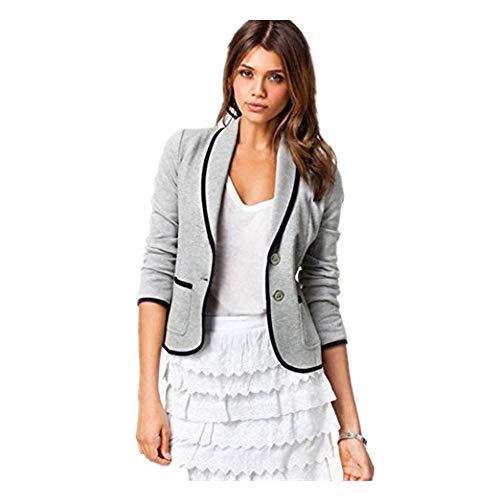 iYYVV Women Business Cropped Coat Blazer Suit Long Sleeve Tops Slim Jacket Outwear
