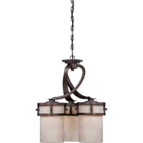 Quoizel KY5006IN Kyle Faux Alabaster Downlight Chandelier Lighting, 6-Light, 600 Watts, Iron Gate (28