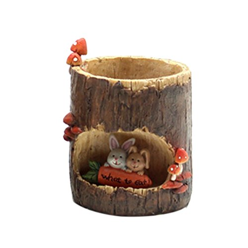 Adarl DIY Mini Creative Flower Pot Flower&Fruits Plants Seeds Gardening Pots Planters&Container Accessories Resin Bunny Pots Small