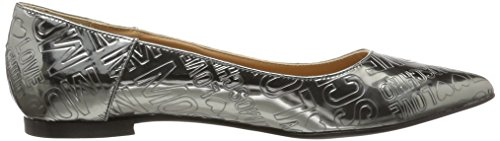 Love Moschino Women's Scarpad.ball10 Lam.Pu Embos.Peltro Ballet Flats Silver (Pewter) 65gEXaL