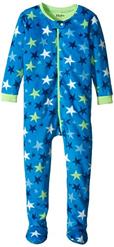 Hatley Baby Boys' Footed Fleece Coverall Stars, Blue, 18 24 Months