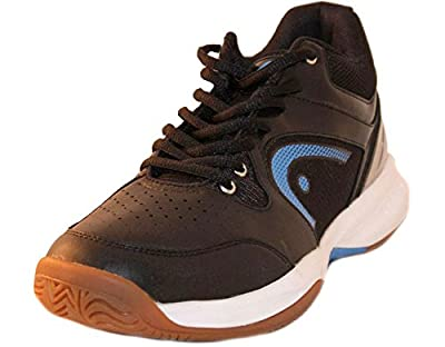 HEAD Men's Sonic 2000 MID Racquetball/Squash Indoor Court Shoes (Non-Marking) (Black/Blue & White/Blue Available)