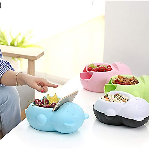 JDgoods Snacks Bowls Storage Box Drawer Fruit Box Mobile Phone Holder - Lazy Snacks Rubbish Storage Box Container Household Plate Dish Organizer - Perfect For Snacks, Fruit, or Pistachio (Green) by JDgoods (Image #2)