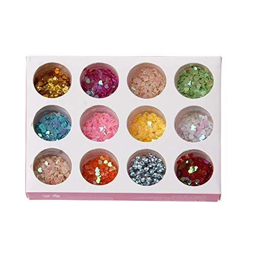 Epoxy Rain Dots - DIY Glitter Powder Heart Star Sequins Nail Art Epoxy Mold Jewelry Filling (TYPES - B)