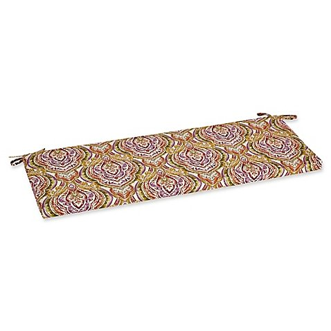 Outdoor Bench Cushion in Avaco Sunset - 45 Inch Bench Cushion Prints
