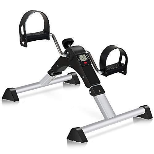 GOREDI Pedal Exerciser, Fitness Folding Exerciser Peddler for Arm & Leg Workout, Upper & Lower Under Desk Bike with…