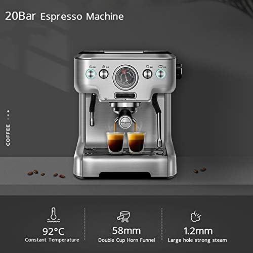JAY-LONG Machines À Expresso Semi-Automatiques De 20 Bars, Machines À Café avec Mousseur À Lait Et Tasse Simple/Double, Machine À Cappuccino De Comptoir pour Bureau À Domicile