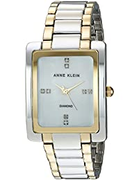 Women's AK/2789MPTT Swarovski Crystal Accented Two-Tone...