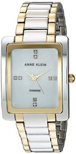 Anne Klein Women's AK/2789MPTT Swarovski Crystal Accented Two-Tone Bracelet Watch