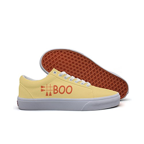 VCERTHDF #Boo Costume Outfit Happy Halloween Broomstick Classic Skateboard Shoes Women White ()