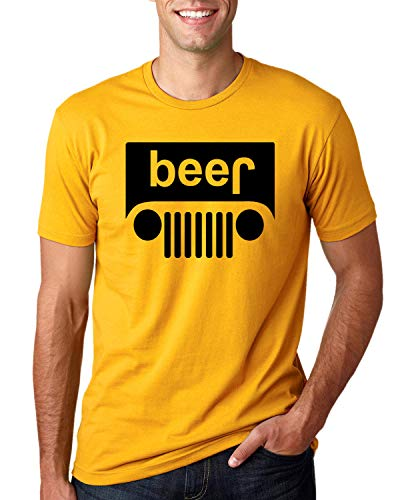 Wild Bobby Beer Logo | Cars and Trucks Parody Humor Alcohol | Mens Drinking Tee Graphic T-Shirt, Gold, 3XL ()