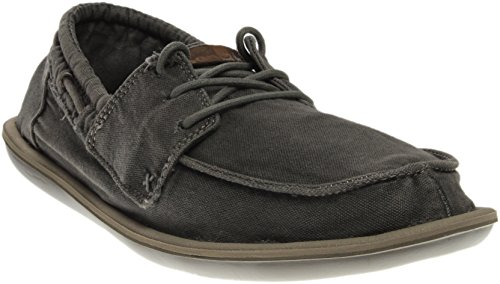 Sanuk Casual Shoes Mens Dinghy Canvas Slip On 7 Washed Brindle - Sanuks Gray