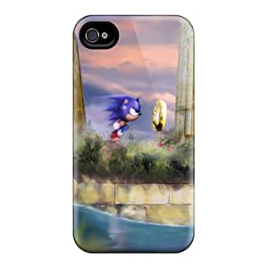 No1cases Iphone 4/4s Perfect Hard Phone Cases Custom High Resolution Sonic The Hedgehog Pattern [Sew2401rXgJ]