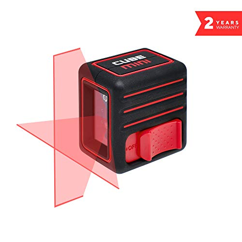 Laser Level, ADA Cube Mini Basic edition, Laser Level, Black/Red, Crossline Self-Leveling Laser Level, batteries and manual included