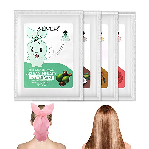 Hair Mask Natural Hydrating for Split-ends 4 Pack, Hair Deep Conditioner Infused with Jojoba Oil Coconut Oil Rose Extract, Repair Damaged Hair, Instantly Service the Dry and Rough Hair Ends (Best Shampoo For Very Dry And Rough Hair)