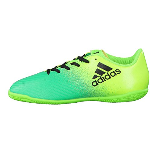 Adidas x 16.4in J–Chaussures montantes de fútbolpara enfants, vert–(Versol/negbas/verbas), 32
