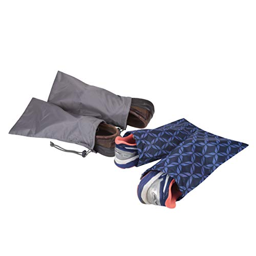 41YL1o1r6nL - Travelon 2 Pairs of 2 Shoe Covers, Rope Weave/Charcoal
