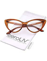 Super Cat Eye Glasses Vintage Inspired Mod Fashion Clear...