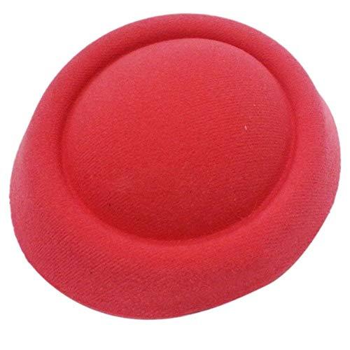 New Fascinator Base Felt Like Pillbox Hat DIY Material Make Supplies Wholesale (Color - -