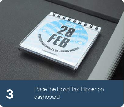 Reusable Road Tax MOT and Insurance Due Reminder Windscreen Sticker RoadTaxFlipper