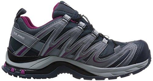 Salomon L37321300, Chaussures de Trail Femme Gris (Grey Denim/Pearl Grey/Mystic Purple)