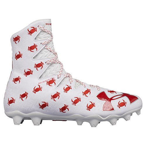 Under Armour Men's Highlight M.C. - Limited Edition, White (161)/Red, 9.5