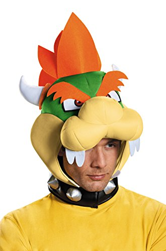 Disguise Men's Bowser Headpiece Costume Accessory - Adult, Multi, One Size (Mario Bros Bowser Costume)