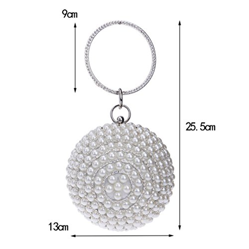 Bags Pearl Wedding Beads Pearl Clutch Bags Women's Beige Bags Tanling YM1060black Evening Beaded Handmade C4xvXSPBqw