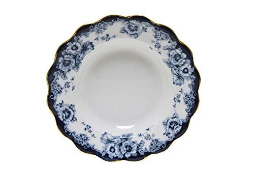 Flow Blue Soup Bowl - Royal Doulton Sutherland Flow Blue 9.5