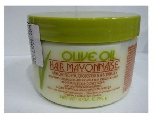 Mayonnaise Hair Olive Oil (Vitale Olive Oil Hair Mayonnaise 8oz with Oat & Egg Protein and Vitamins - Good on Color & Thermal Treated Hair - for Dry & Damaged Scalp Men, Women & Kids - Moisturize and Condition)