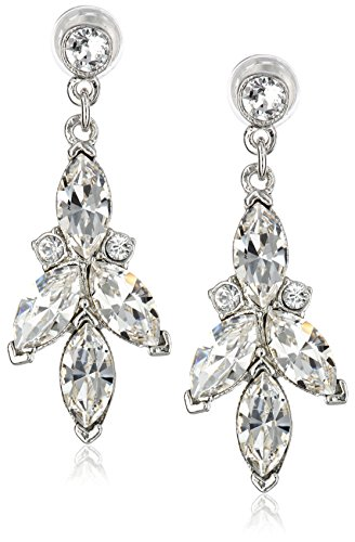 Ben-Amun Jewelry Swarovski Crystal Drop Earrings for Bridal Wedding Anniversary
