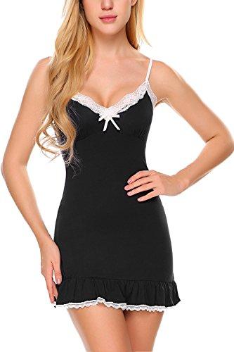 Avidlove Women Sleepwear Full Slips Strappy Chemises Lace Babydoll Sexy Nightwear