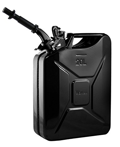 Northern Tanks Fuel Steel (Wavian USA JC0020BVS Authentic NATO Jerry Fuel Can and Spout System Black (20 Litre))