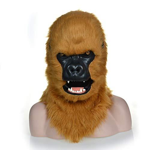Deluxe Full Face Máscara de cabeza de gorila blanca, disfraces ...