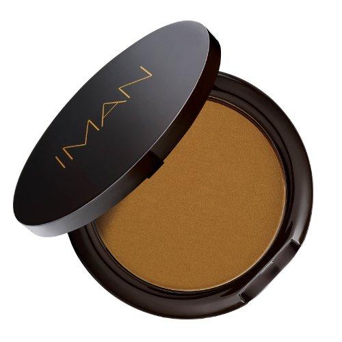 IMAN Cosmetics Second To None Luminous Foundation, Dark Skin, Earth 1 - Clay Medium Dark Powder