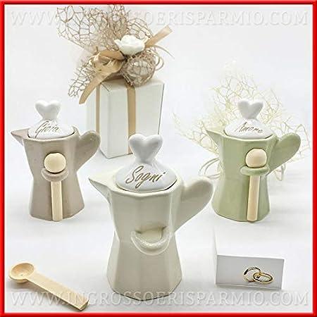 Bomboniere Matrimonio Utili Cucina.Ingrosso E Risparmio Zuccheriere A Forma Di Moka In Ceramica