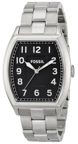 Mens Fossil White Silver Dial - Fossil Men's FS4881 Narrator Analog Display Analog Quartz Silver Watch