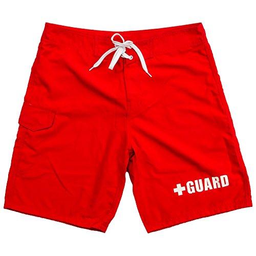 BLARIX Mens Lifeguard Board Short (Red, 30) - Life Boardshort