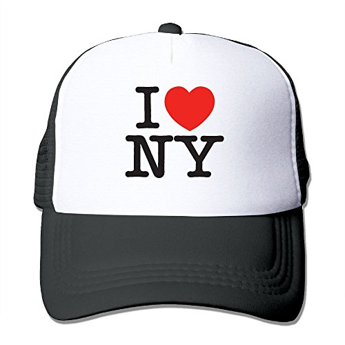 I Love NY New York Adjustable Printing Snapback Mesh Hat Unisex Adult Baseball Mesh Cap