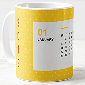 Ceramic- Calendarmug January