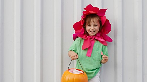 Last-Minute Halloween Costume: Felt Flower Headband]()