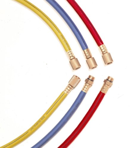 """Interdynamics BRY-134HD R-134a 72"""" Professional Grade Air Conditioning Hose Set with High and Low Quick Connects - Pack of 3"""