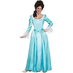 Forum Novelties Colonial Lady Corset-Style Dress, Blue, L