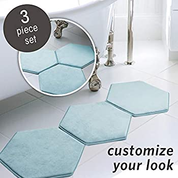 Amazon Com Microdry Memory Foam Hd Modular Bath Mats 3