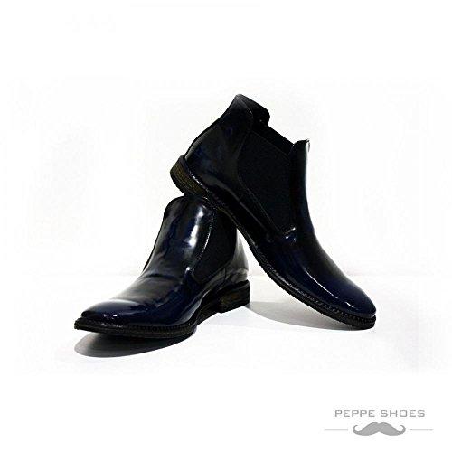 Modello Palerme - Handmade Colorful italiennes en cuir Shoes Chaussures Casual formelle haut de gamme uniques vintage Bottines _ lacets Robe Hommes
