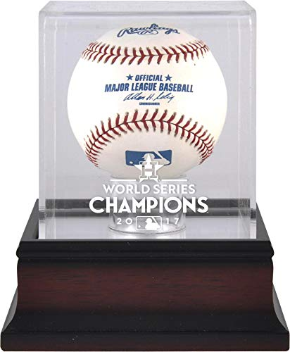 Sports Memorabilia Houston Astros 2017 MLB World Series Champions Mahogany Logo Baseball Display Case - Baseball Logo Display ()