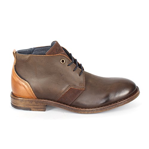 Herren Winter Leder Stiefel Kurzer Schaft Braun Selected Quality Boots Brwn-camel-1313