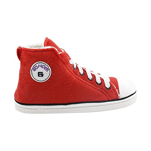 Gohom Mens Warm Winter Indoor / Outdoor High-top Sneaker Pantofole Da Donna Arrossiscono