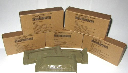 (5 Boxes - 15 Large Bars - Military Trioxane Compressed Ration Heating Fuel Tabs)